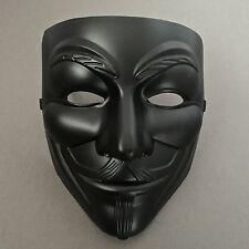 V for Vendetta Black Anonymous Guy Fawkes Costume Mask