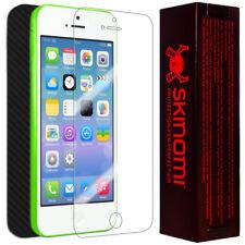 Skinomi Carbon Fiber Black Phone Skin+Screen Protector Cover for Apple iPhone 5C