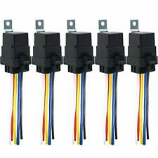 Irhapsody 5Pack 80/60 Amp Waterproof Relay and Harness - Heavy Duty 12 Awg Wires