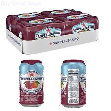 San Pellegrino Sparkling Fruit Beverages, Melograno e Arancia/Pomegranate & cans