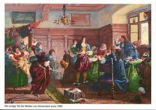 Alte Kunstpostkarte - Die mutige Tat der Weiber von Schorndorf anno 1688