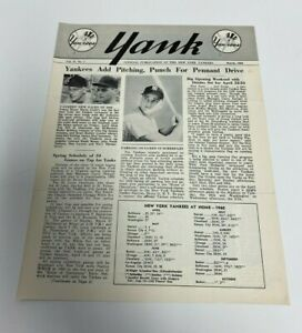 1960 New York Yankees YANK Publication Newsletter Vol 15 No 1 ~ Roger Maris
