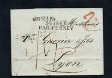 SWITZERLAND. 1817. PRE STAMP COVER. ST.GALLEN (PAR FERNEY) TO LYON. RATED '2'