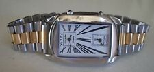 Men's Gold & Silver Finish Fashion 2 Time Zone(Dual Time)Dressy/Casual Watch