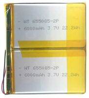 Brand New Replacement 6000 mAh Battery 3.7 V for Multi-Purpose use, Toys, etc.