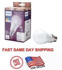 Philips Full Color A19 LED 60W Dimmable Smart Light Bulb Wi-Fi Alexa Siri Google