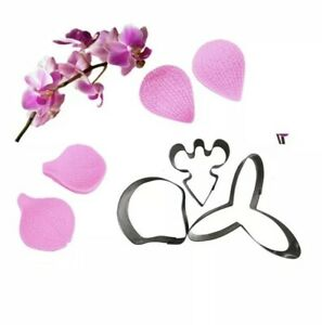 Cutter Butterfly Orchid Petal And Veiner Fondant Cake Decorating Mould Tool