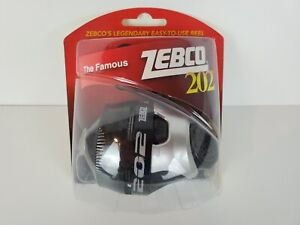 Zebco The Famous 202 Fishing Reel Dial Adjustable Drag Metal Gears Stainless Pin