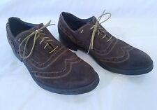 Men's Geox Respira Brown Suede Wingtip Shoes 10
