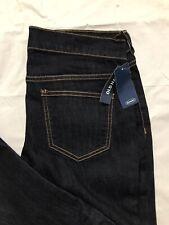 Old Navy The Flirt Jeans Size 4P Mid Rise Bootcut Dark Wash Stretch Blue Denim