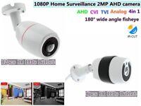 HD 1080P 2MP AHD CVI TVI CVBS 4 in1 Camera Security wide angle Fisheye IR Bullet