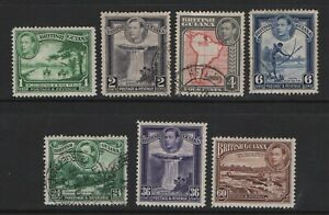 British Guiana 1938 1952 King George VI selection to 60 cents Mint MH/Used