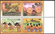 Micronesia 1996 Tourism/Boats/Canoe/Dancing/Palm Trees/Money 4v set blk (s1657)