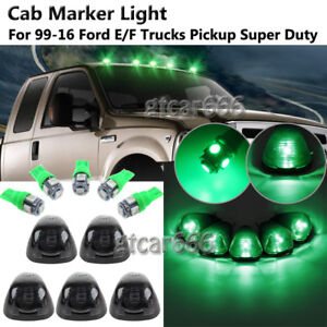 5 Green LED Cab Marker Light Roof Running Light For 99-16 Ford F-250 F-350 Truck