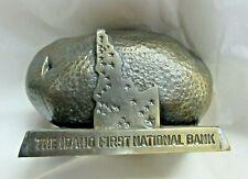 New ListingVtg The Idaho First National Bank Metal Still Bank Shaped Like Potato w/ State