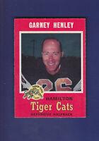 Garney Henley 1971 O-PEE-CHEE CFL Football #65 (EXMT+) Hamilton Tiger-Cats