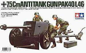 TAMIYA 1/35 GERMAN PAK40 7.5CM GUN PLASTIC KIT TA35047
