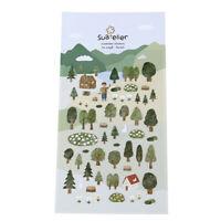 Green Forest Decorative Sticker Diary Album Label Sticker DIY Stationery Stic Jf