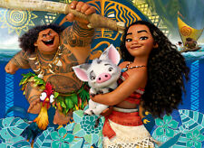 100 Big Piece Jigsaw Puzzle Disney Moana Adventures Leaving Motunui with Maui