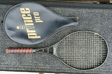 Clásicos 1983 Prince Modelo Pro Raqueta de Tenis 11.7cm Cuero Agarre Con Funda