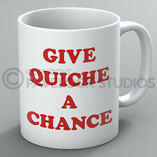 Give Quiche A Chance Mug Red Dwarf Rimmer Kryten Lister Cat Funny Present Gift