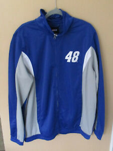 Mens Nascar Athletic Jacket Johnson #48 Sz XL Zip Up Coat
