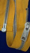 "VTG Jacket Zipper CROWN/COATS CLARK (not Talon) #10 Separating Metal 22"" COTTON"
