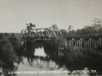 Early 1900s Hwy 59 Bridge Cypress Bayou Jefferson TX Photo Postcard RPPC Unpostd