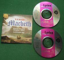 Verdi Macbeth Leonard Warren Carlo Bergonzi + Leinsdorf 1959 Rec. 2 x CD