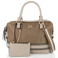 Sansibar Zip Bag Handtasche Umhängetasche Tasche Taupe Beige Braun