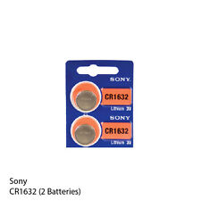 Original SONY CR1632 3 Volt Lithium Coin Battery (2 Pack)