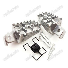 Pit Dirt Bike Aluminium Foot Pegs Footrest For Honda XR50R CRF 50 70 80 CRF100F