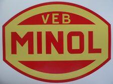 2x Emblem Aufkleber DDR Tankstelle VEB Minol Barkas W50