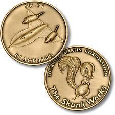 NEW Lockheed Martin Skunk Works SR-71 Blackbird Bronze Challenge Coin. 32011