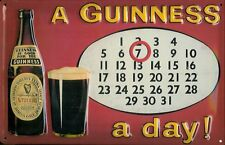 Guinness Collectible Mini Tin Sign Guinness Calendar Guinness A Day