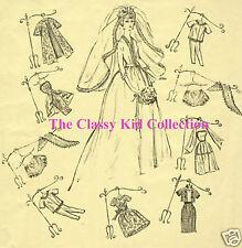 Vintage For Barbie Trousseau Fashion Patterns