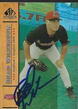 Brad Wilkerson Montreal Expos 2001 Upper Deck SP Signed Card