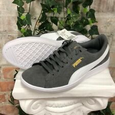 NEW Women's PUMA Vikky Suede Casual Sneaker Shoes Grey and White Pick Size