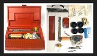 Vintage Gilbert  Erector Set - Red Plastic Handle Box -Parts/Motor/Instructions