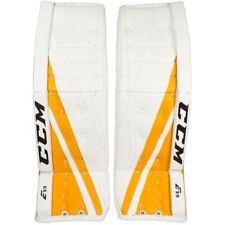 "New Ccm Extreme Flex E3.9 Junior goalie leg pads 30""+1 Jr ice hockey Yellow Gold"