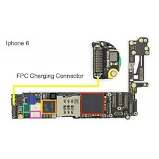 CHARGING DOCK FPC connector for apple IPHONE6 high temp easy solder replacement