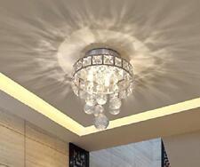 Semi Flush Ceiling 3 Light Modern Fixture Mount Chandelier Mini Chrome Crystal