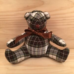"CHECKERS THE BEAR ""Black"" Beautiful Little Teddy Bear Soft Toy Stuffed Friend"