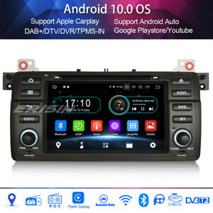 Android 10.0 DAB + radio carplay wifi freeview for bmw 3er e46 m3 mg zt rover 75