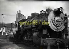 1950 WM Western Maryland Locomotive #201 @ Baltimore - Vintage Railroad Negative