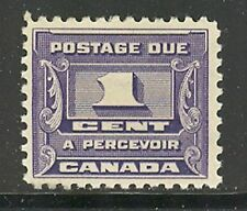 Canada #J11, 1934 1c Postage Due - Third Postage Due Series, Unused Hinged