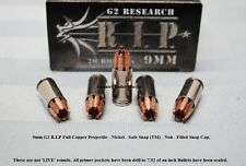 9mm R.I.P. BR/NK Copper Hollow Point – CBW Safe Snap ™  Snap Caps–NF Lot of 5