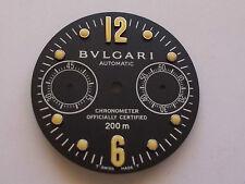 GENUINE BVLGARI DIAGONO 38MM SCUBA CHRONOGRAPH BLACK DIAL FOR ST.STEEL MODELS