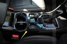 For Subaru XV  2017 2018 ABS Carbon Fiber Interior Center Console Panel Cover