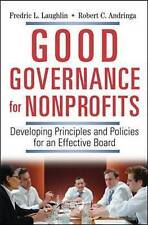 Very Good, Good Governance for Nonprofits.: Developing Principles and Policies f